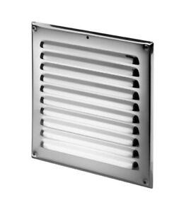 """Acier Inoxydable Air Vent Grille 250mm X 250mm 10 """"x 10"""" Metal Ventilation Cover-afficher Le Titre D'origine"""