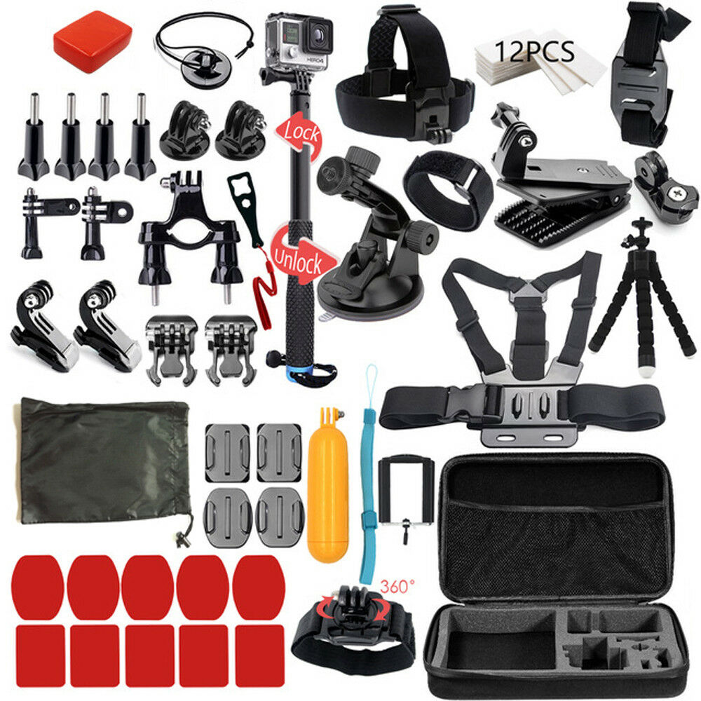Action Camera Accessory Kit for GoPro Hero Xiaomi Yi 4K SJCAM SJ5000 SJ7 Eken H9 5