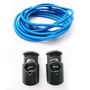 Elastic Shoe Laces Tie Fast Triathlon Marathon Running Run Shoelaces Relief Blue