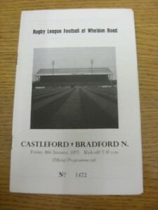 08011971 Rugby League Programme Castleford v Bradford Northern Item appears - <span itemprop=availableAtOrFrom>Birmingham, United Kingdom</span> - Returns accepted within 30 days after the item is delivered, if goods not as described. Buyer assumes responibilty for return proof of postage and costs. Most purchases from business s - Birmingham, United Kingdom