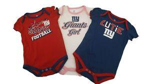 New-York-Giants-Official-NFL-Girls-Infant-Baby-3-Piece-Creeper-Bodysuit-New