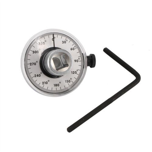 """Drehwinkel Messer Messgerät 1//2/"""" Winkelmesser Gradmesser Drehwinkelscheibe 360°"""