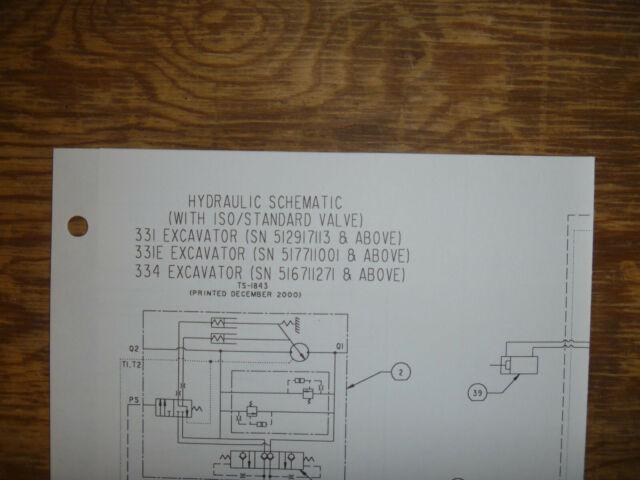 Bobcat 331 331e 334 Excavator Hydraulic Schematic Diagram