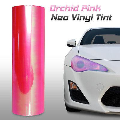 "l 12/""x24/"" Chameleon Neo Pink Headlight Fog Light Taillight Vinyl Tint Film"