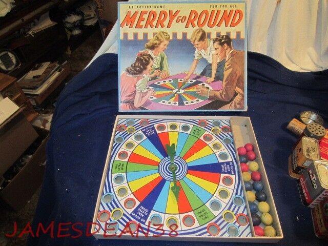 Años 40 Merry Go Round Board Spinning Juego Whitman Racine Wisconsin