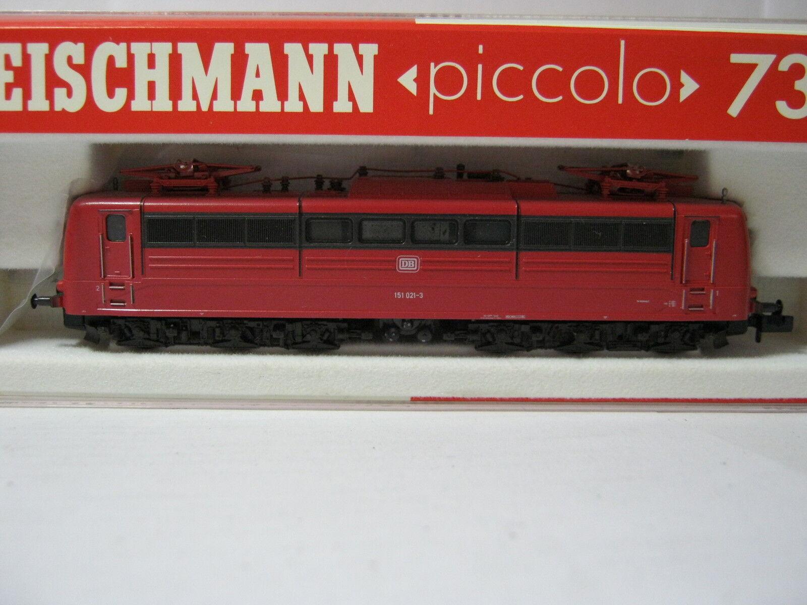 Fleischmann N 7382 LOCOMOTIVA ELETTRICA BR 151 021-3 DB orientrot  rg/br/71s3