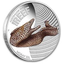 2010 1/2 oz Proof Silver Moray Eel - Sea Life I Series