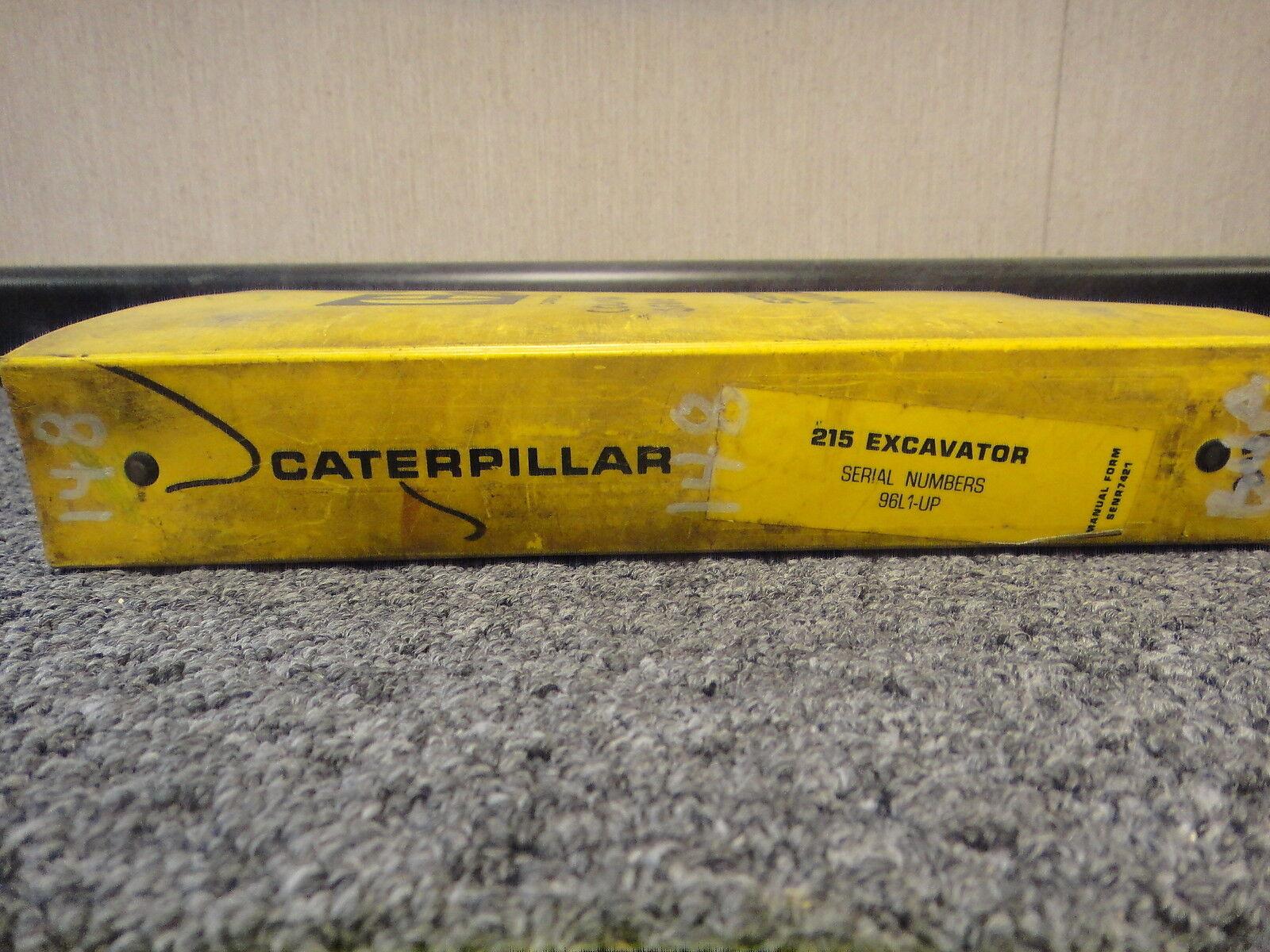 Cat Caterpillar 215 Excavadora Excavadora Excavadora Hidráulica Taller reparación Manual de servicio 96L1-up 5e1162