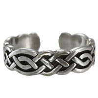 Celtic Knot 1 Toe Ring 3 Ss Sterling Silver Body Jewelry Adjustable Size
