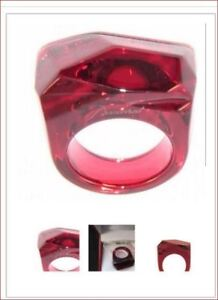 275-Baccarat-Crystal-Rock-Ring-RUBY-RED-53-Size-6-5-MINT-IN-BOX-Arik-Levy