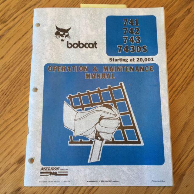 Heavy Equipment Manuals & Books Bobcat 741 742 743 743DS OPERATION ...
