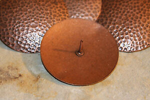 20) DIY Barn Door Accent Hardware Copper Colored Large Hammered