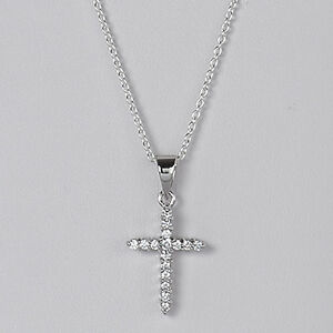 Sterling-Silver-CZ-Cross-Pendant-Italian-Design-Charm-Christian-Solid-925-Italy