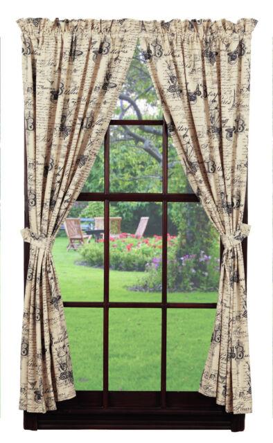 Luxury Print Bedroom Curtains Set 66 X 72 Script Paris Chic French Text Purple For Sale Online Ebay