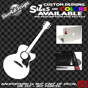 Acoustic-Guitar-Custom-Vinyl-sticker-Phone-Laptop-Car-Truck-Window-Gibson-Martin