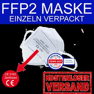 50 x FFP2 Maske Mundschutz Atemschutz 5 lagig CE 2163 zertifiziert