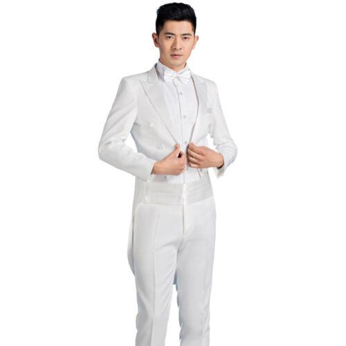 Mens Tuxedo Morning Suit Tailcoat Jacket Trouser Evening Tails Frock Coat Formal