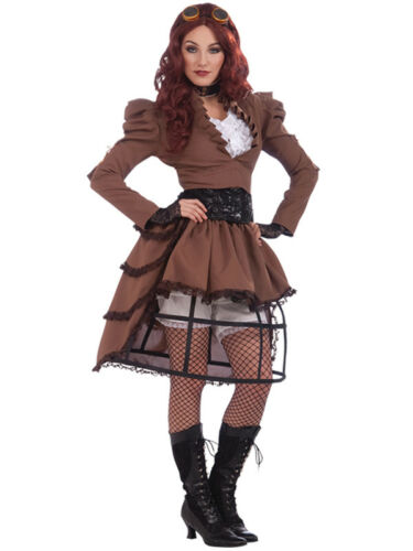 Femmes steampunk vicky hoop jupe party fancy dress costume victorien costume