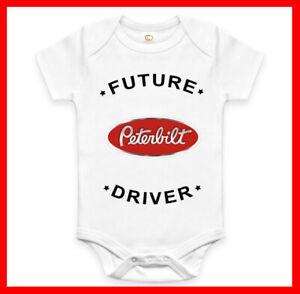Rare Future Kenworth Driver Auto Baby Clothes Funny Bodysuit Romper One Piece