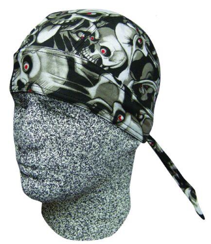Capsmith Du Rag Biker Bandanna Skull Sock Cap Hat Head Wrap Doo Biker New