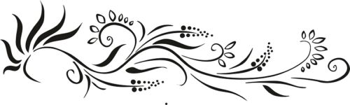 Floral mur Stickers Tourbillon décoratifs Embellissement murs Art Décalcomanie Transferts