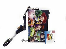 Disney Black Toy Story 3 Lanyard ID Ticket iPhone Key Chain Badge Holder Wallet