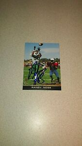 Details About Randy Moss Marshall Minnesota Vikings Signed Press Pass Rookie Card Nfl