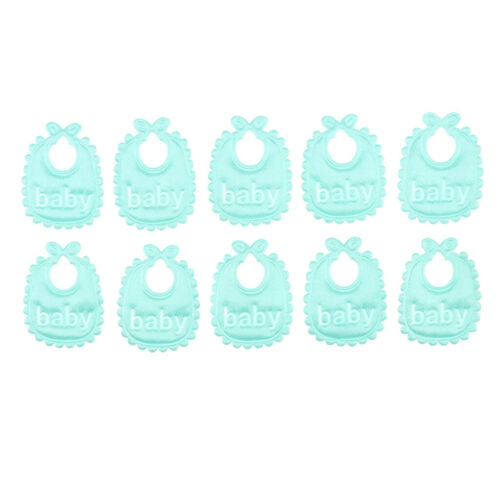 10 Pieces Lovely 1:12 Baby Bib Doll House Miniature Nursery Accs Light Green
