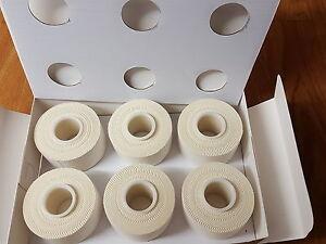12-Rollen-Sporttape-Stutzenband-Tape-Gelenktape-weiss-10-m-x-3-75-cm-ECO