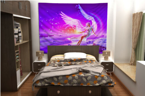 Angel Wing Tapestry Art Wall Hanging Sofa Table Bed Cover Home Decor