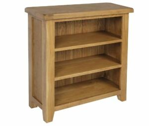Wiltshire Stunning Crafted Rustic Small Oak Bookcase W70 x D22 x H82cm Brand New