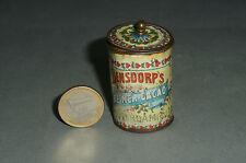 uralte Bensdorp's Reiner Cacao Miniatur Blechdose 5,1 cm für den Kaufmannsladen