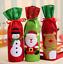 Red-Wine-Bottle-Cover-Bags-Christmas-Decor-Snowman-Santa-Claus-Party-Xmas thumbnail 2