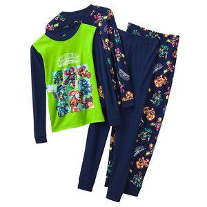 30734f665 NWT ☀4PC SET☀ SKYLANDERS Boys Pajamas New SWAP FORCE 4 4T  44