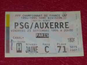 COLLECTION-SPORT-FOOTBALL-TICKET-PSG-AUXERRE-23-SEPT-1994-Champ-France