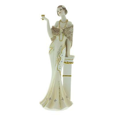 Art Deco Broadway Belles Lady Figurine Statue Leaning Beige Colour 58435
