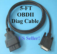 5ft Replacement Obd2 Obdii Main Data Cable For Autel Maxiscan Ms609 Code Scanner