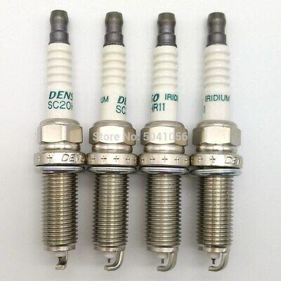 4Pcs Denso Iridium Spark Plug SC20HR11 90919-01253 For Corolla Prius Lexus Scion
