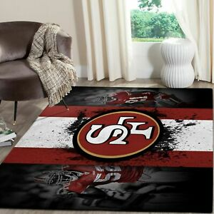 San Francisco 49ers Super Bowl 2020 Nfl Football Area Rug Floor Decor Ebay