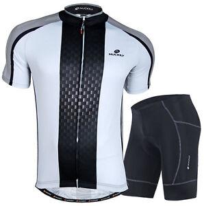 Homme-Maillot-de-cyclisme-velo-Wear-Bike-uniformes-vetements-Rembourre-Shorts