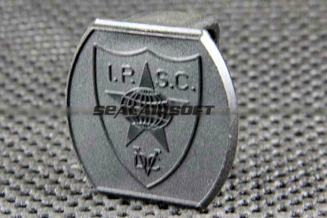 ACM Airsoft IPSC Logo Plastic 1.5 / 2 Inch Belt Head BK