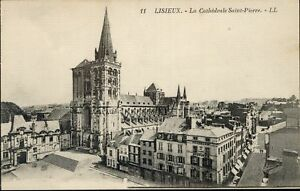 14-cpa-LISIEUX-Cathedrale-St-Pierre