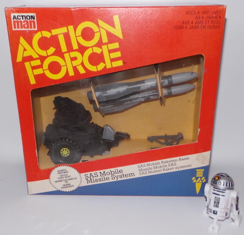 Action MAN  modèle en plastique ensemble. SAS mobile missile system faite par palitoy (lfc8)