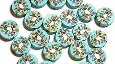 New 25 Siamese Cat Flowers Polymer Clay Coin Round Fimo Beads 12mm