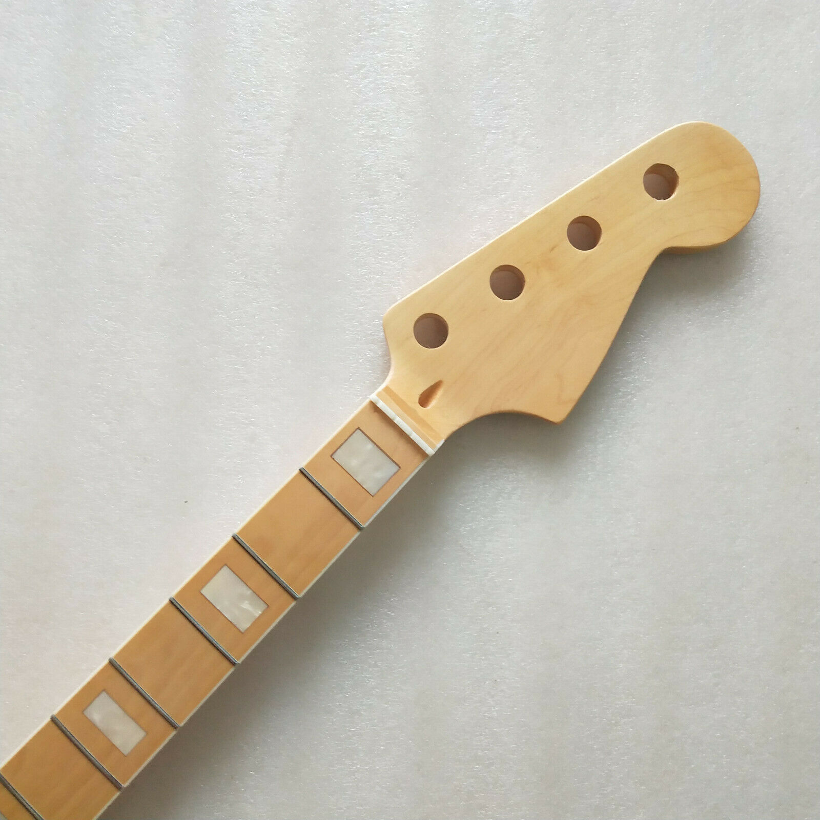 Gloss 4 string 21 fret maple P bass Guitar Neck maple Fretboard block inaly