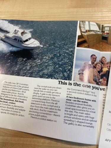 Details about  /Chris Craft 1977 Vintage Corinthian 38 Yacht Brochure Package With Spec Sheet