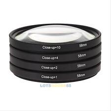 58mm +1 +2 +4 +10 Macro Close Up Lens Filter Kits for Canon 700d 500d Nikon EOS