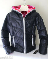 Skea Java Down Reversible Parka Black Pink Komodo Hooded Ski Jacket 8 $500
