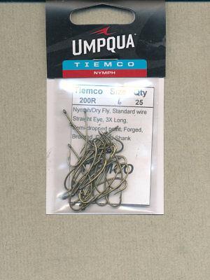 Umpqua Tiemco Tmc 200R Fly Tying Hooks 25 Pack 06