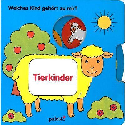 Spielbuch TIERKINDER: Welches Kind gehört zu mir? Mit Drehscheibe (Pappbuch)